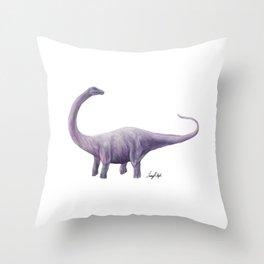 Purple Diplodocus Throw Pillow