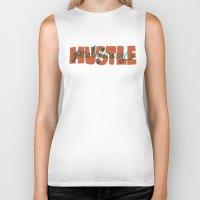 hustle Biker Tanks featuring Hustle & Prolificacy by Chris Piascik