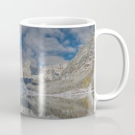 Maroon Bells Reflection In The Maroon Lake With Fresh Snow Aspen Colorado Usa for #society6 Coffee Mug