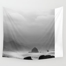 Storm in Canon Beach  Wall Tapestry