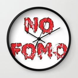 No FoMO Wall Clock