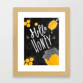 Hello honey chalk Framed Art Print