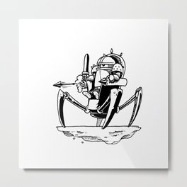 Powmozz the Great Halfling Warrior Engineer Metal Print