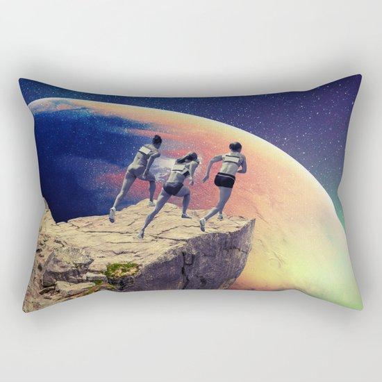 Orange Planet Rectangular Pillow