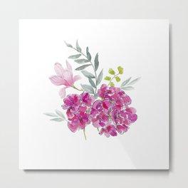 Malvon bouquet Metal Print
