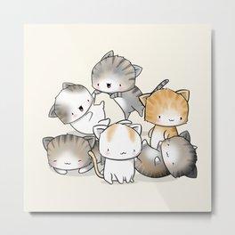 Cute Kitty Doodle Metal Print