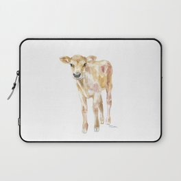 Jersey Calf Watercolor Cow Laptop Sleeve