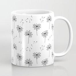 Dandelions in Black Coffee Mug