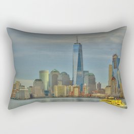 1 World Trade Center from NY Harbor Rectangular Pillow