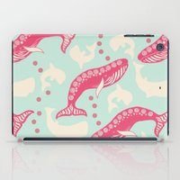 whales iPad Cases featuring whales by Wee Jock