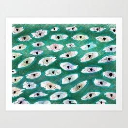Abstract Eyes Print 2 Art Print