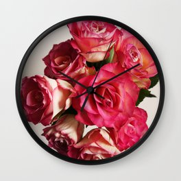 Roses bought with love don't die that easily Wall Clock