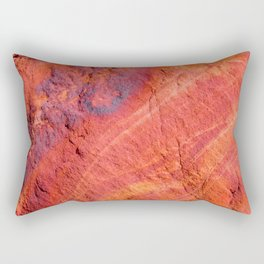 Natural Sandstone Art - Valley of Fire Rectangular Pillow