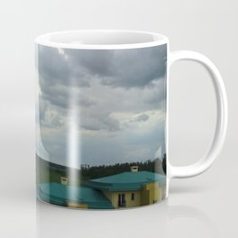 Small town in a summer stormy day Coffee Mug