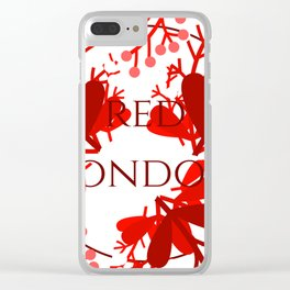 Red London Clear iPhone Case