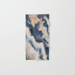 All that Shimmers – Gold + Navy Geode Hand & Bath Towel