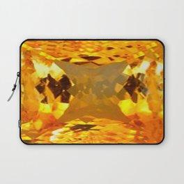 Imperial Golden Topaz Gem November Birthstone Design Laptop Sleeve