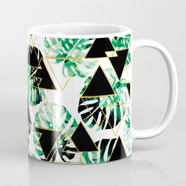 Monstera Leaf Triangle Coffee Mug