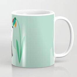 Sweet panda and flower Coffee Mug