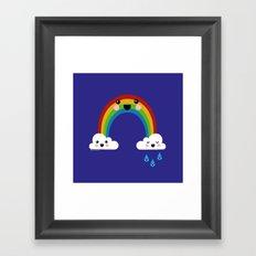 Rainbow Cuteness Framed Art Print