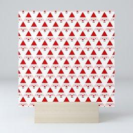 Santa Pattern Mini Art Print