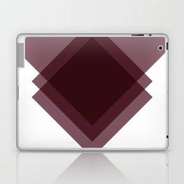 Modern Geometric Art Deco Burgundy Laptop & iPad Skin