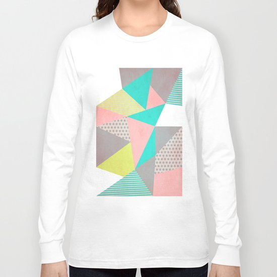 Geometric Pastel Long Sleeve T-shirt
