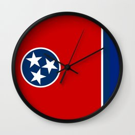 State flag of Tennessee - Authentic version Wall Clock