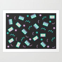 Retro radio pattern Art Print