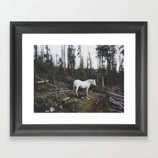 The White Horse Framed Art Print
