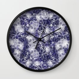 Floral Wish Wall Clock