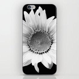 Sunflower In Black And White #decor #society6 #buyart iPhone Skin
