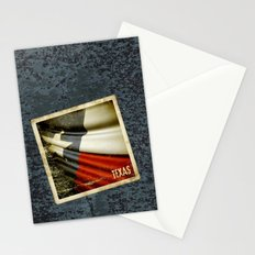 Grunge sticker of Texas (USA) flag Stationery Cards