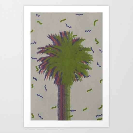 Palm retro Art Print