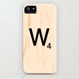 Scrabble Letter W - Scrabble Art and Apparel iPhone Case
