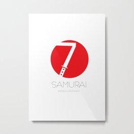 7 Samurai Metal Print