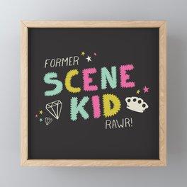 Former Scene Kid Framed Mini Art Print