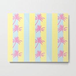 Stripes Palms Pattern Metal Print
