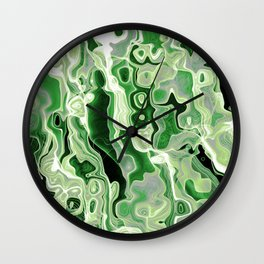 Aromantic Pride Curled Clustered Light Threads Wall Clock