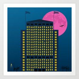 Shell Building by Night. London Art Print
