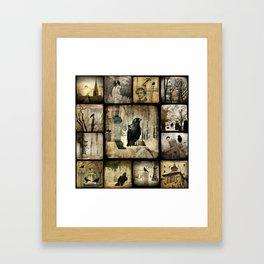Gothic Squares Framed Art Print