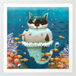 Graceful Mermaid Art Print