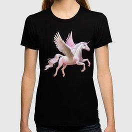 Flying unicorn at sunset T-shirt