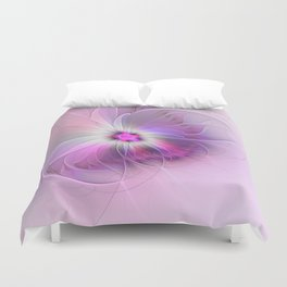Abstract Flower With Pink And Purple Fractal Duvet Cover