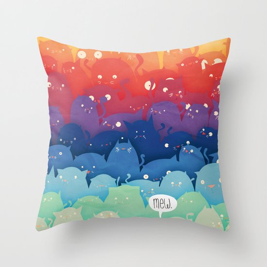 Cats Galore! Throw Pillow by Scott Ulliman Society6