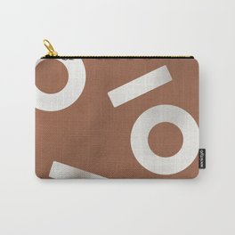 Tan Keyhole Linen Carry-All Pouch