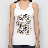kawaii Tank Tops featuring Kawaii Ghibli Doodle by KiraKiraDoodles