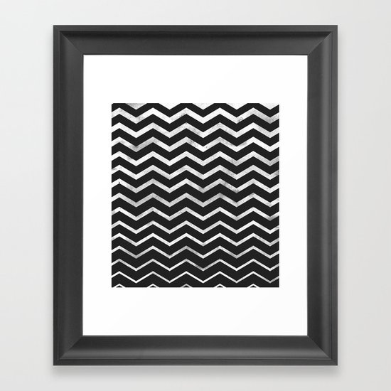 Zag Framed Art Print