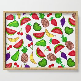 Tutti Fruity Hand Drawn Summer Mixed Fruit Serving Tray