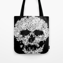 Geometric Light Grey Skull Composed Of Triangles Tote Bag